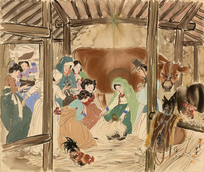 Южная Корея Пасха Ким Ки Чан корейские художники