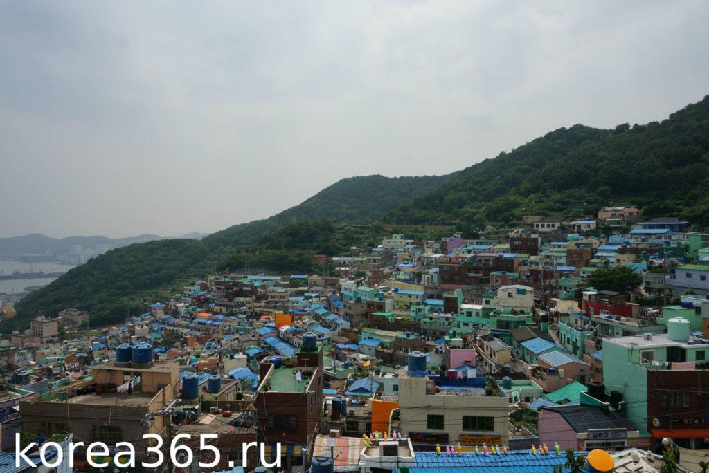 Южная Корея Пусан культурная деревня Камчон вид