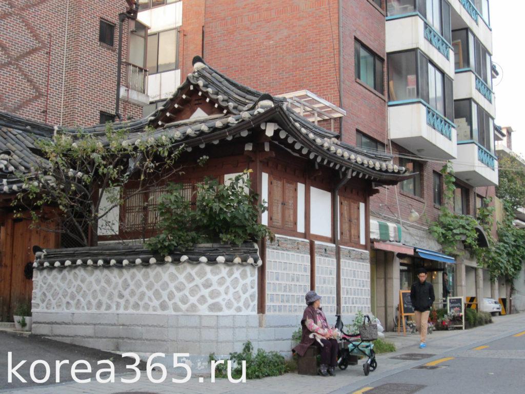 Южная Корея Сеул Букчон традиционный дом ханок