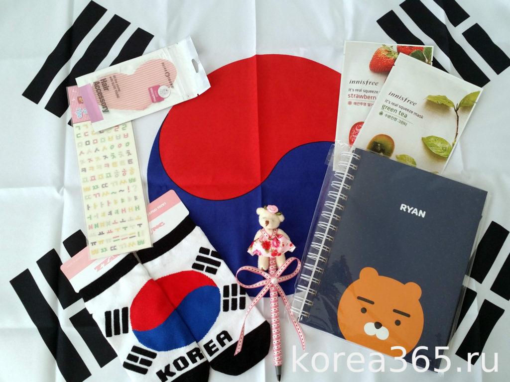 Южная Корея Сувениры корейский  флаг хангыль innisfree корейская косметика kakaotalk ryan