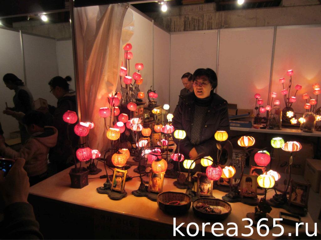 Южная Корея Сеул Ручей Чхонгечхон Сеульский фестиваль фонарей
